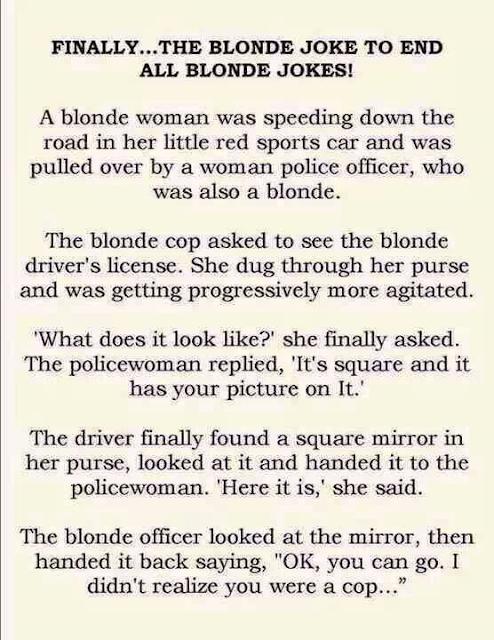 Finally, The Blonde joke to end all blonde jokes,,,