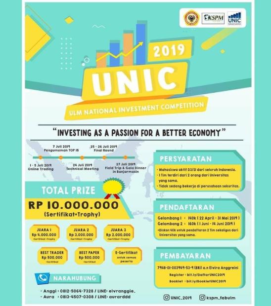 Kompetisi Investasi Nasional 2019 di FEB ULM