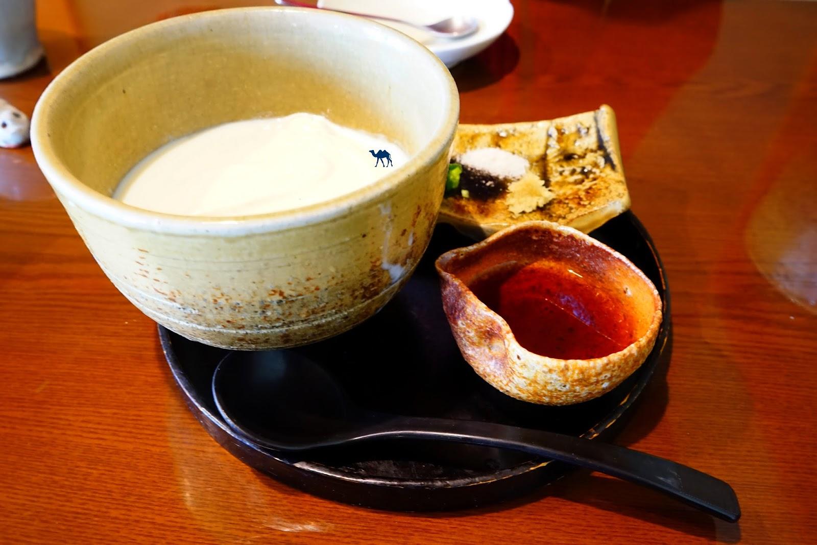 Takayama Restaurant japonais Tofu de nonohana - Le Chameau Bleu