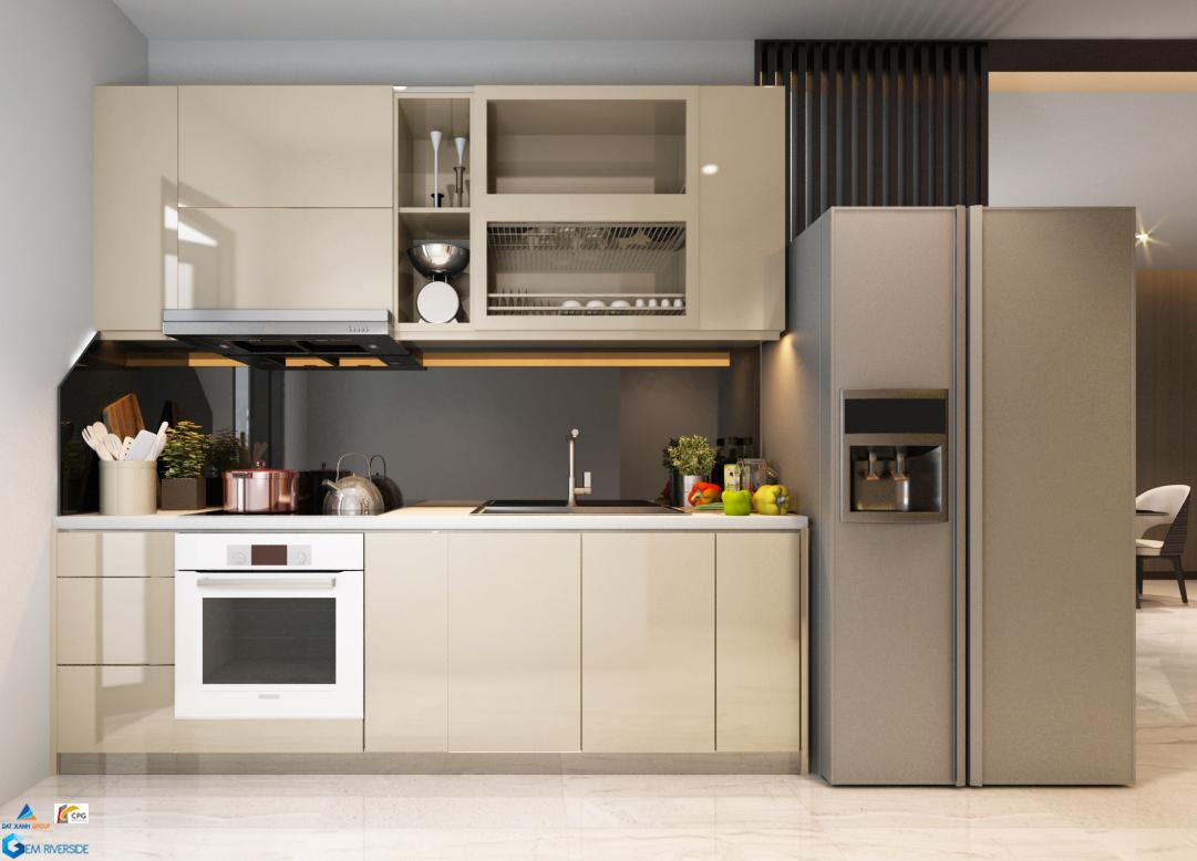 Gợi ý thiết kế bếp  căn 76m2 tại Gem Riverside