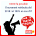 CCOO fa possible l'increment retributiu del 2018 i el 100% en cas d'IT