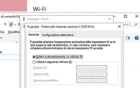 come impostare indirizzo IP e gateway manualmente windows 10