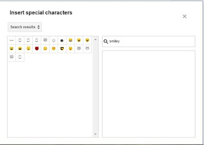 Add special characters in blogger how to