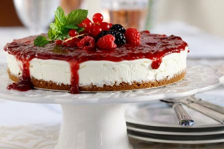 Ioanna's Notebook - Forest Fruits Cheesecake