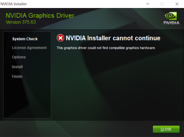 FIX NVIDIA Installer Cannot Continue