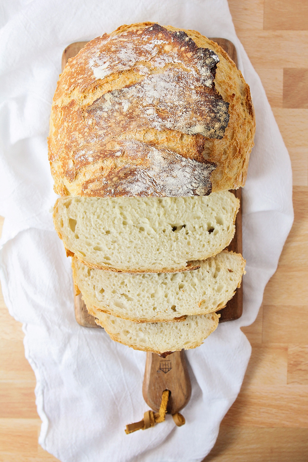 This easy no-knead artisan bread is so simple to make, and tastes just like it came from the bakery!
