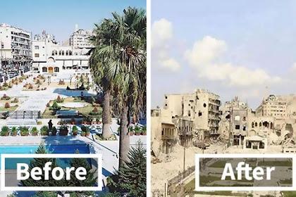 Aleppo Dulu Kota Yang Sangat Indah, Lihatlah Kondisinya Sekarang, Begitu Menyayat Hati. Berikut Foto-Foto Sebelum Dan Sesudah Perang Disana