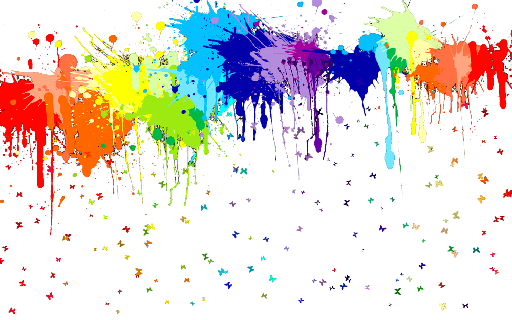 Paint Design Wallpapers Colorful Splatter On White Gallery