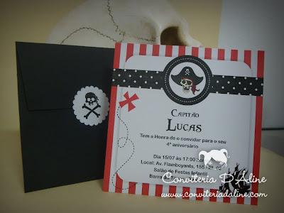 convite infantil piratas