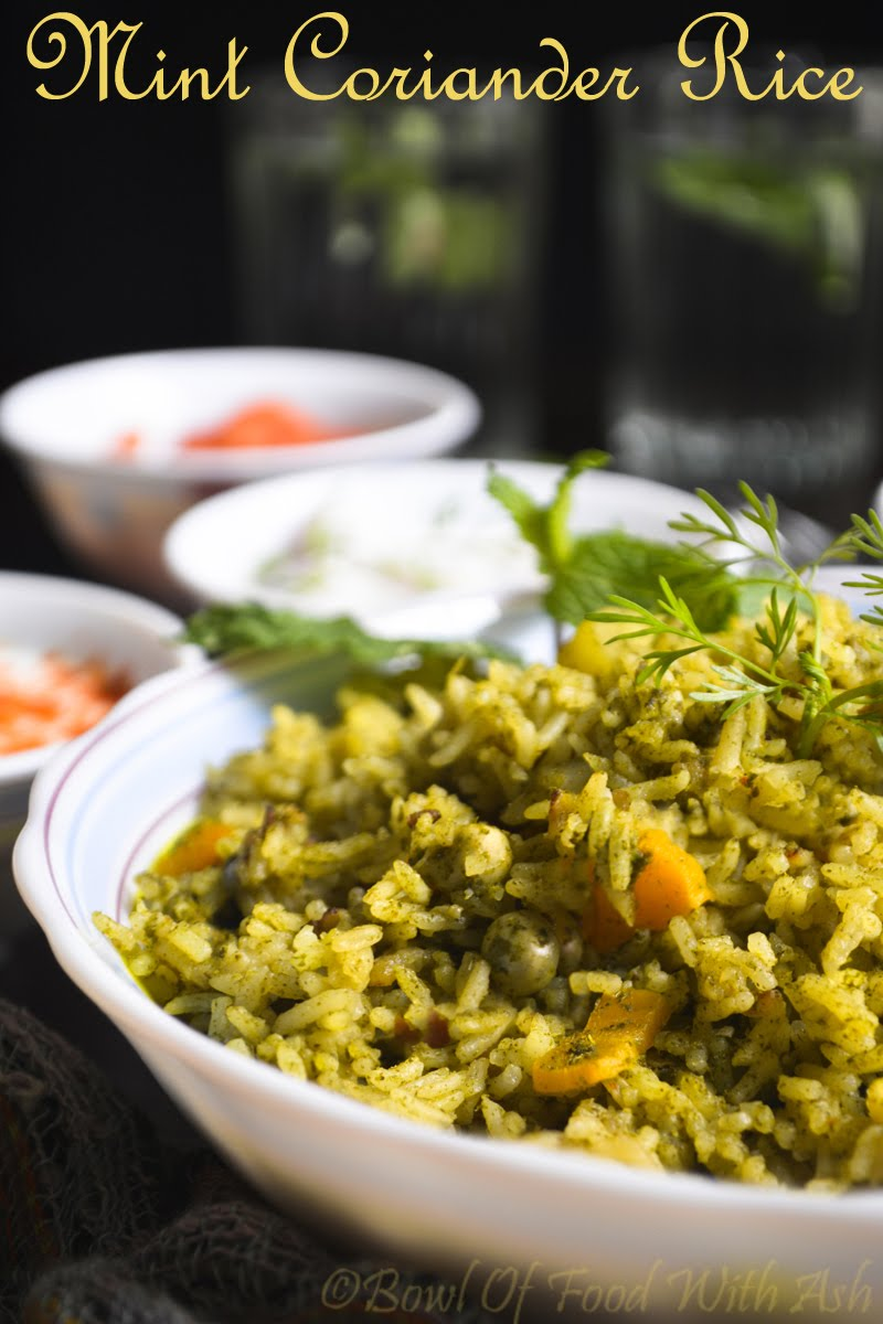 Mint Coriander Pulao Recipe | How to Make Mint Coriander Rice