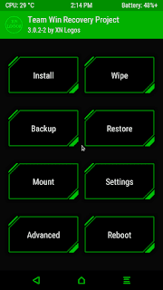 twrp-green-17-08-22-14-14-15 twrp 3.2.1 Recovery For Cubot Note Plus Android