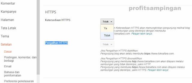 Cara Merubah Protokol Http Menjadi Https Pada Custom Domain Blogspot
