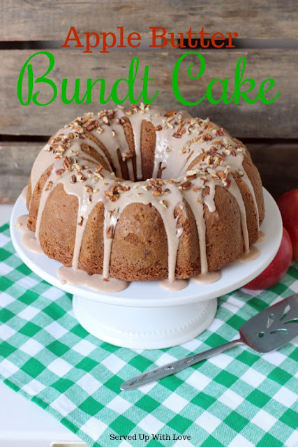 Apple Butter Bundt Cake recipe from Served Up With Love