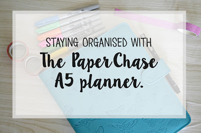 Butterfly teal deboss A5 organiser review from paperchase