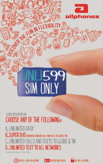 Unlimited postpaid sim only for P599 a month at ALLPHONES