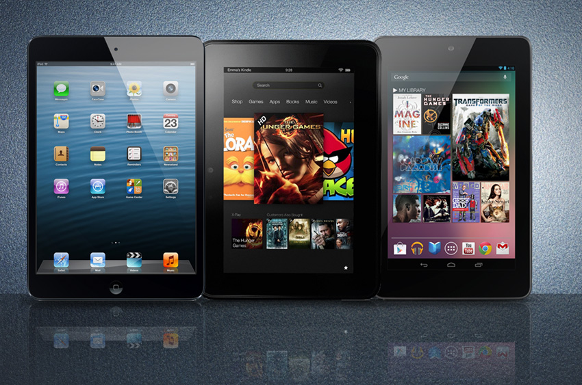 Apple Ipad Vs Kindle: IPad Mini VS Google Nexus 7 VS Amazon Kindle Fire HD