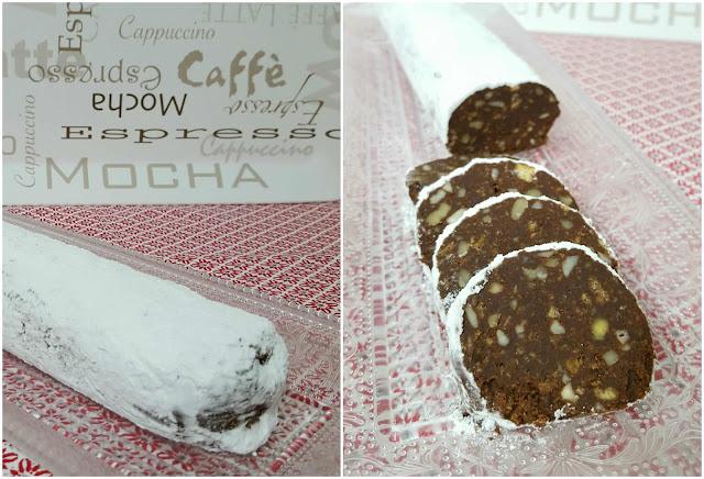 Corte salchichón de chocolate