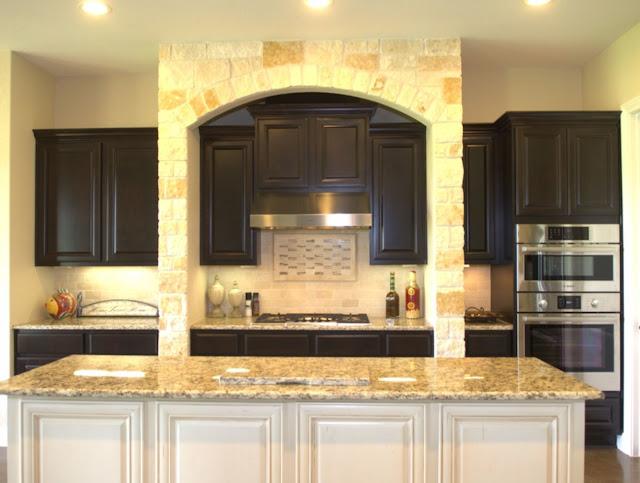 Stone Arch in Kitchen