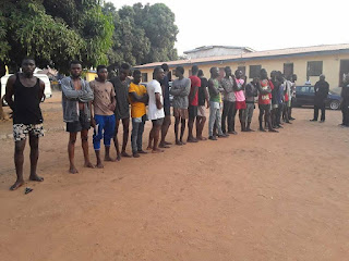 News: Police parades 35 cultists in Benue [PHOTOS]