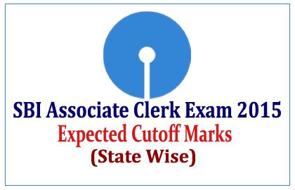 SBI Associate Clerk Exam 2015 Expected Cutoff