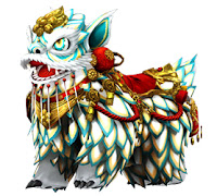 [Bike Costume] Mythical Lion (White)