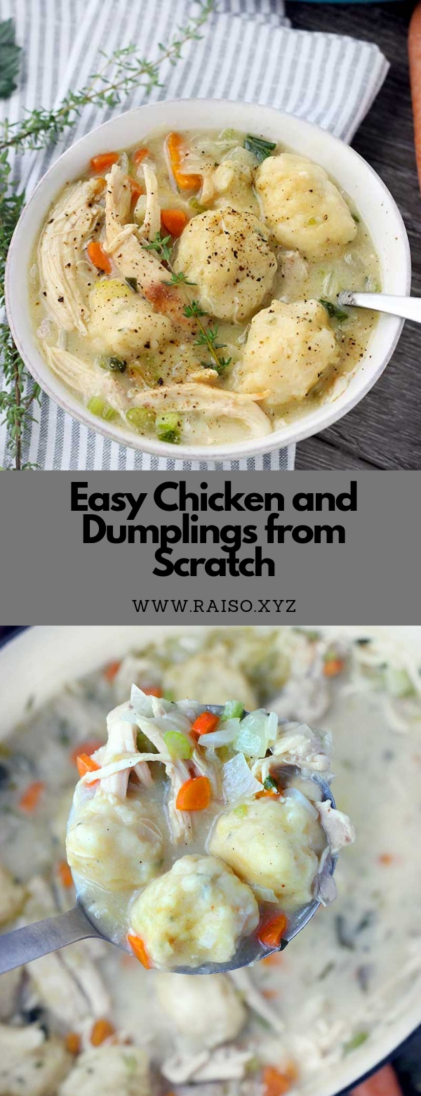 Easy Chicken and Dumplings from Scratch #chicken #soup