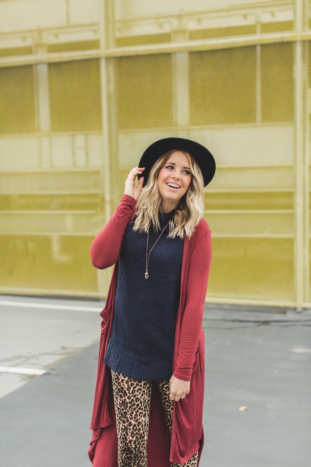 Layers, Utah Fashion Blogger, Leopard Leggings