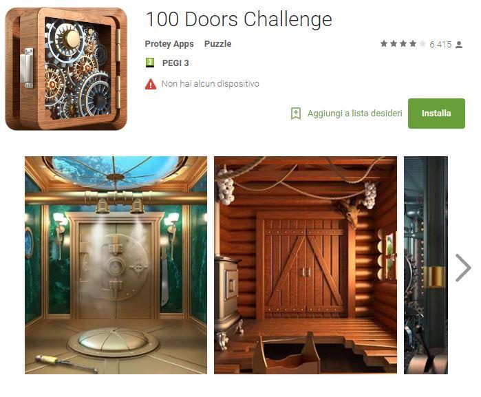 Soluzioni 100 Doors Challenge livello 41 42 43 44 45 46 47 48 49 50