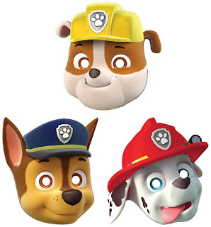 paw patrol paper masks at partybell.com