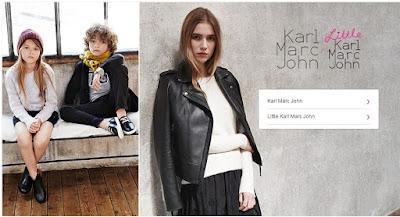 ropa oferta de marca Karl Marc John mujer y niña