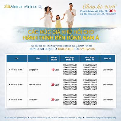 Khuyến mãi MÙA HÈ VẪY GỌI của Vietnam Airlines đi Singapore