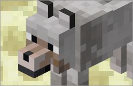Minecraft Wolf Figures