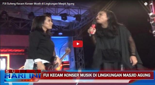 Parah, Konser Rock Digelar Di Halaman Masjid Agung, FUI Sulteng Kecam Acara Tersebut