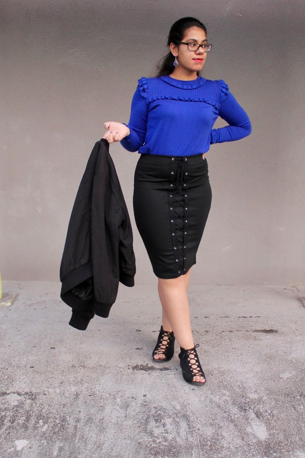 Primark Skirt & Bomber Jacket