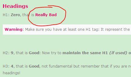Mengatasi Masalah H1 Zero, that is Really Bad