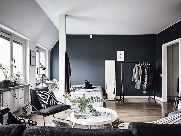 D coration en noir blanc blog d co mydecolab - Decorer grand mur blanc ...