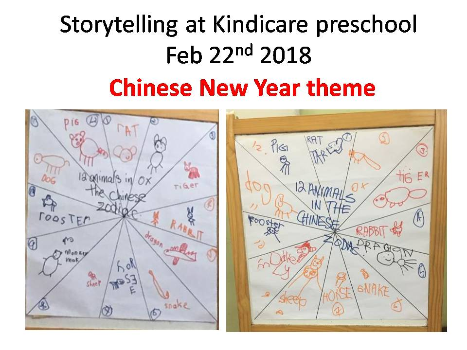 2018 storytelling at kindicare preschool chinese new year theme 22nd february
