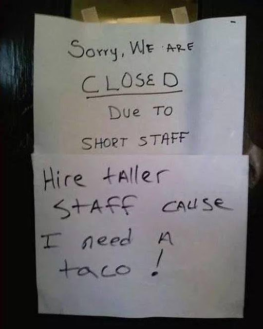 Man needs his taco!