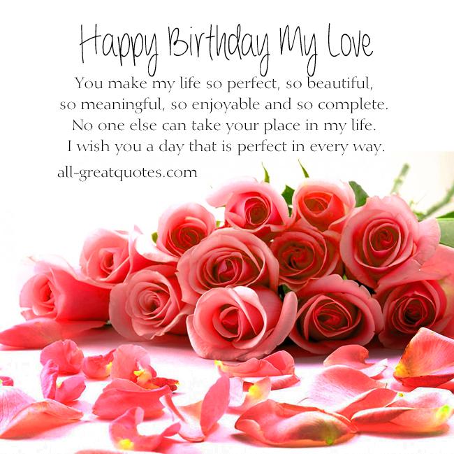 Birthday Greetings For Love