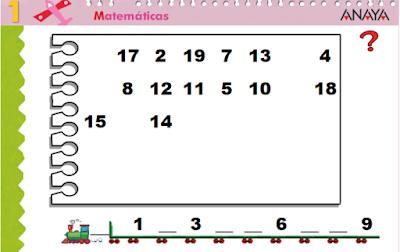 Resultado de imagen de serie numerica ANAYA