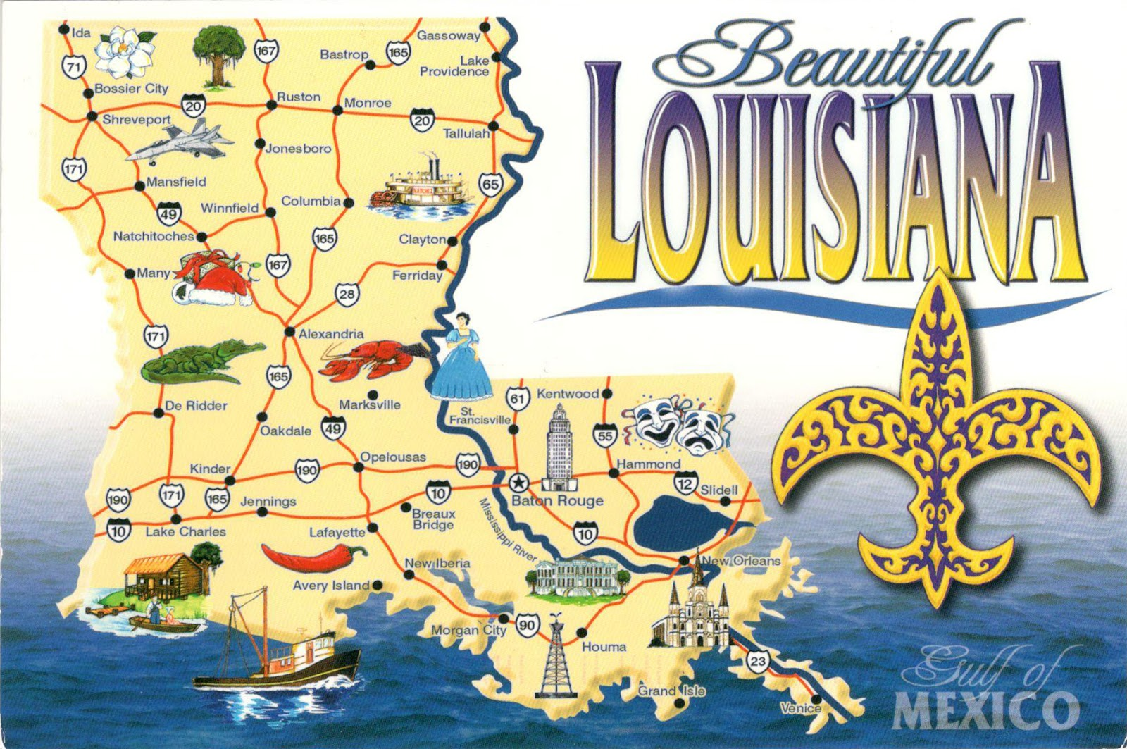 world come to my home   united states (louisiana  -   united states (louisiana)  louisiana map