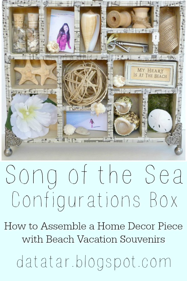 Beach Photos and Shells in a Configurations Box