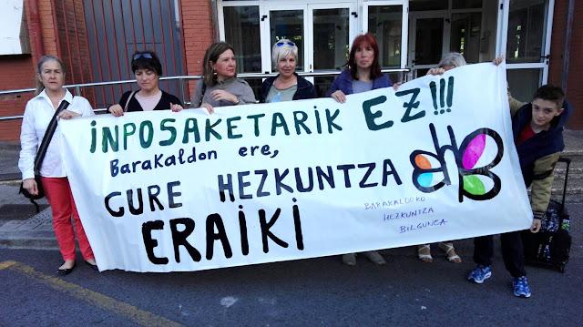 Protesta en Beurko contra las pruebas de la Lomce