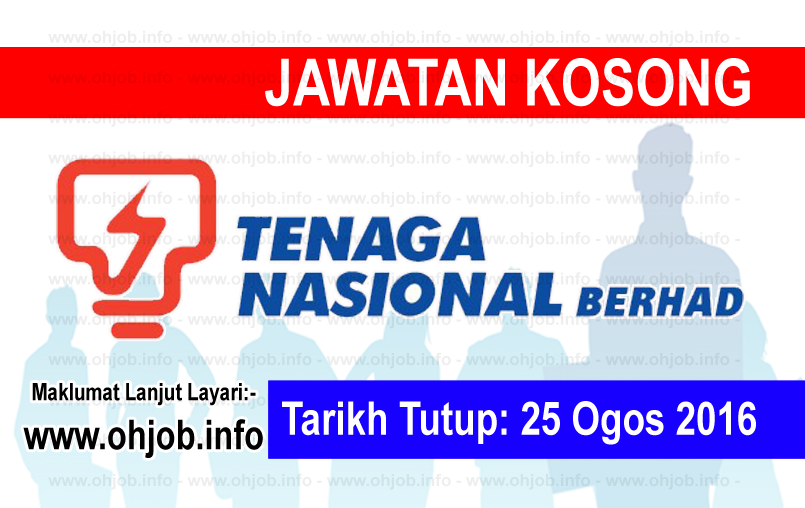 Jawatan Kerja Kosong Tenaga Nasional Berhad (TNB) logo www.ohjob.info ogos 2016