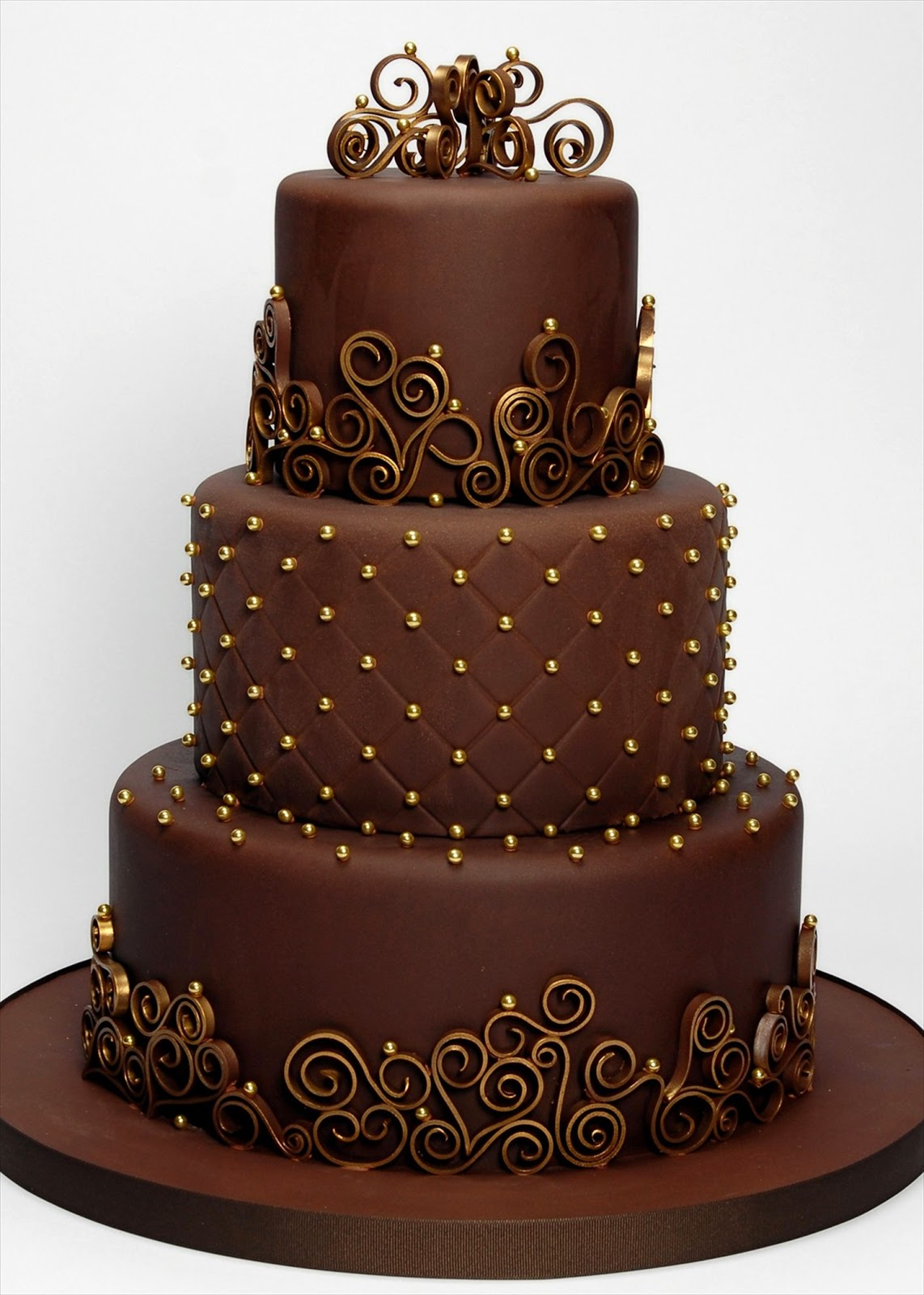 Smiles For Chocolate Wedding Cakes