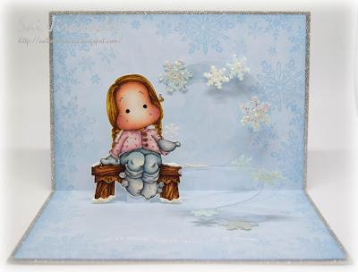 Magnolia Tilda with Sock Puffs Pop Up Card