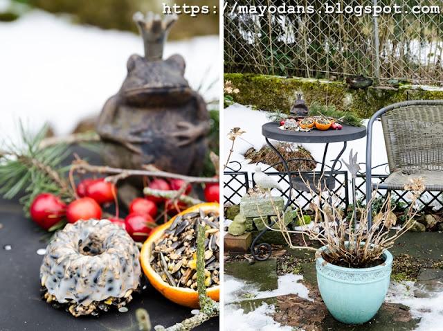 Futterplatz für Gartenvögel
