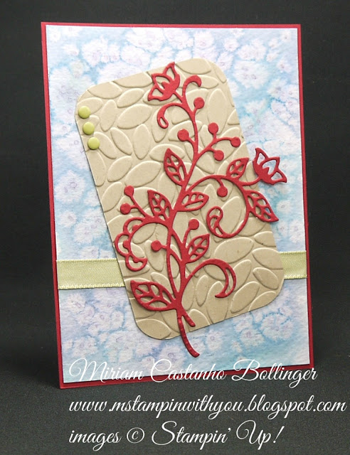 Miriam Castanho-Bollinger, #mstampinwithyou, stampin up, demonstrator, mm, all occasions card, big shot, petals burst tief, flourish thinlits, su