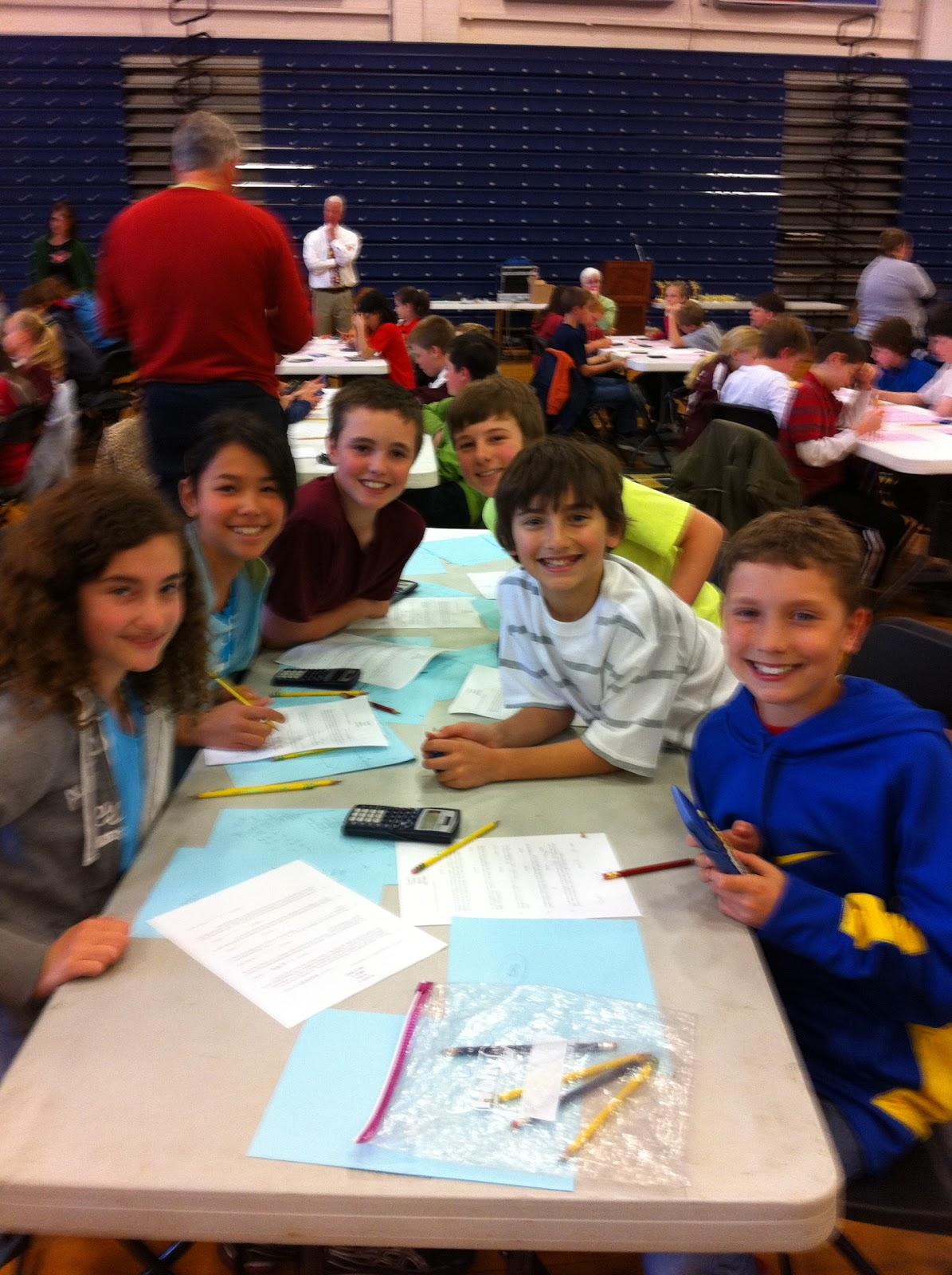 Accomplishments Middle School Math Meet