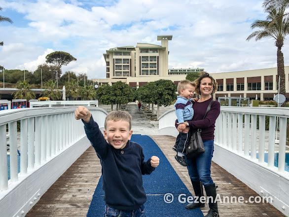 iki çocukla Rixos Belek Antalya tatilimiz